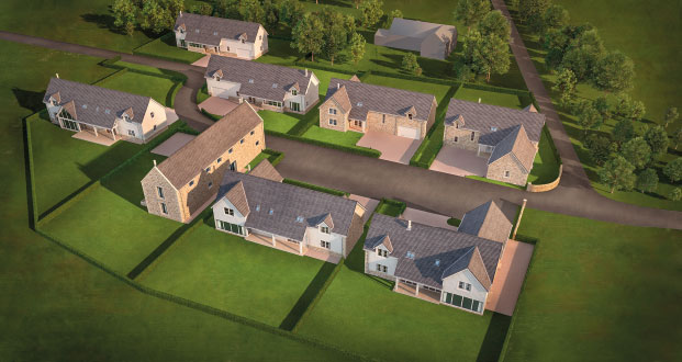 New Build Houses Near Dalkeith, Edinburgh